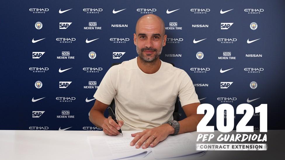 2021: Guardiola has signed a new City deal