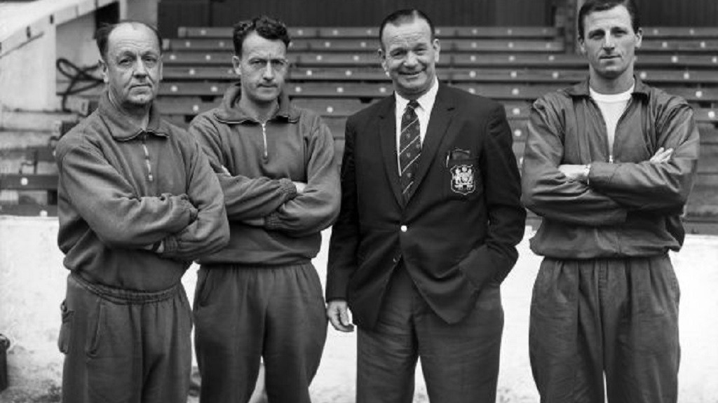 COACH HART: Second left, with boss George Poyser circa 1963/64
