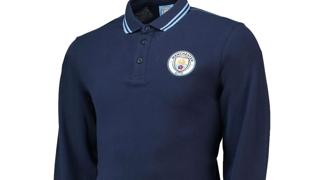 d0cbb955f06 Manchester City core long-sleeved tipped cuff polo - navy