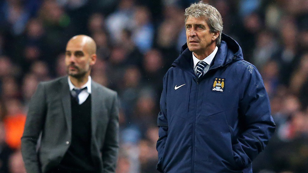 OLD FRIENDS: Pep and Manuel know each other well
