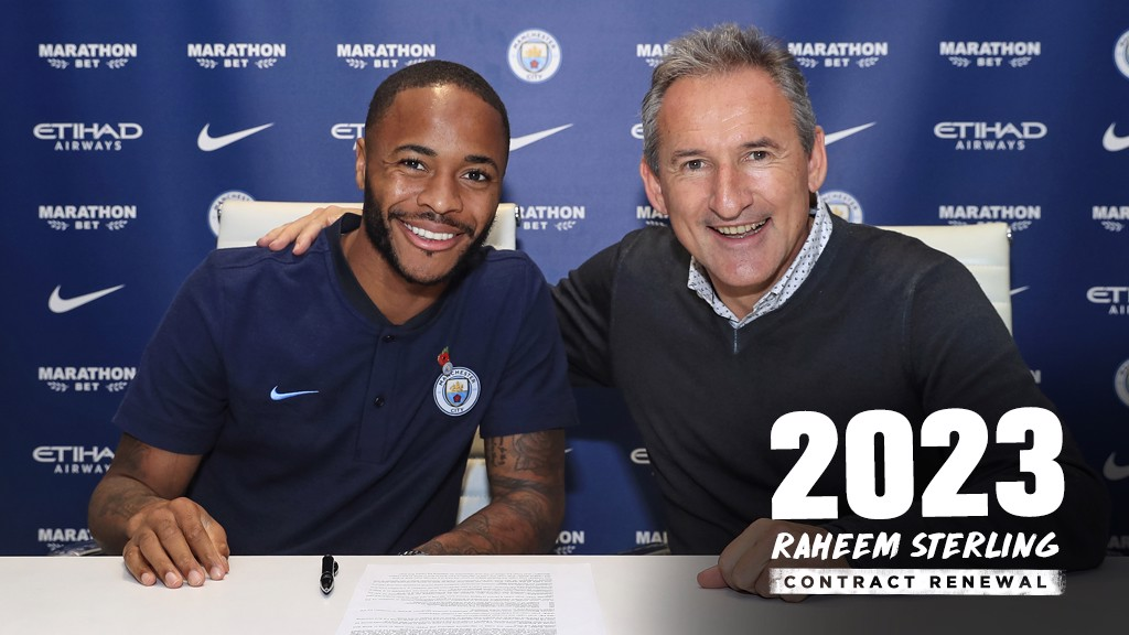 Raheem Sterling signs contract extension - Manchester City FC