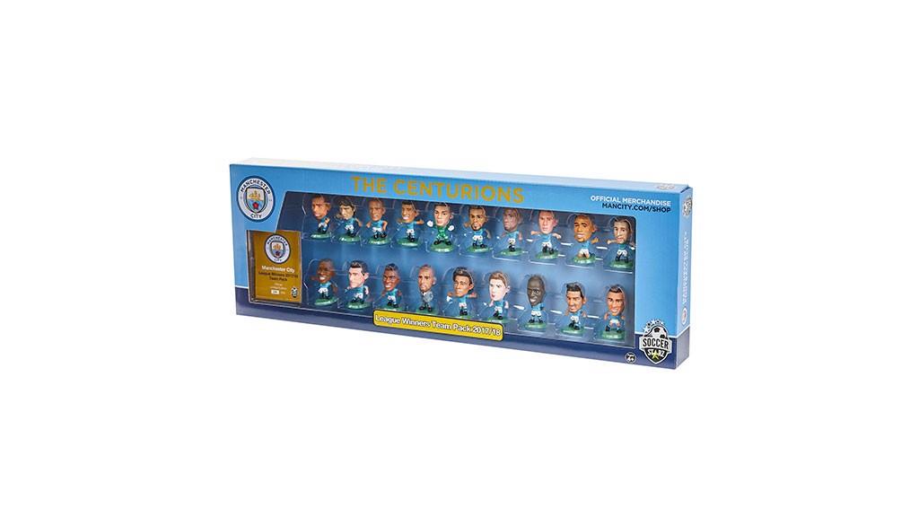 Manchester City SoccerStarz 2017-18 Champions Team Pack