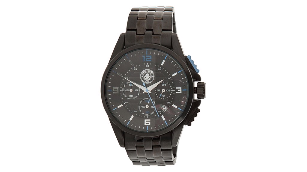 Stainless Steel Chronograph Watch - Black