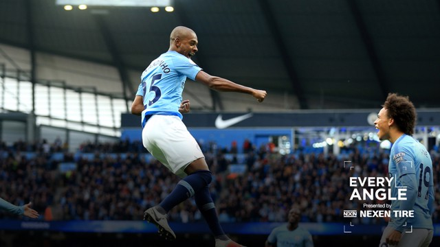 EVERY ANGLE: View Fernandinho's super strike against Burnley over and over...