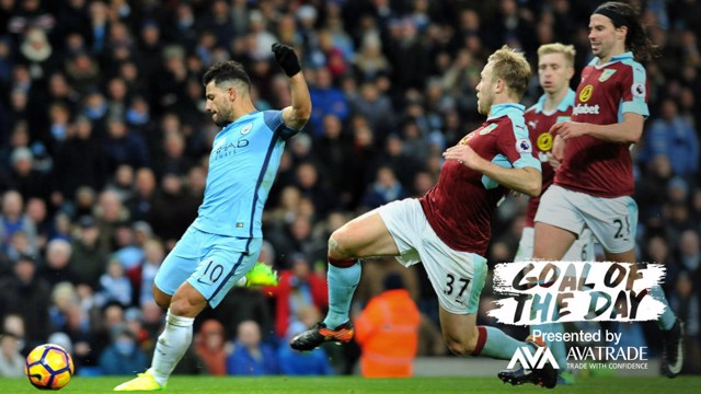 GOTD: Today's Goal of the Day is Aguero's near-pots effort against the Clarets in 2017
