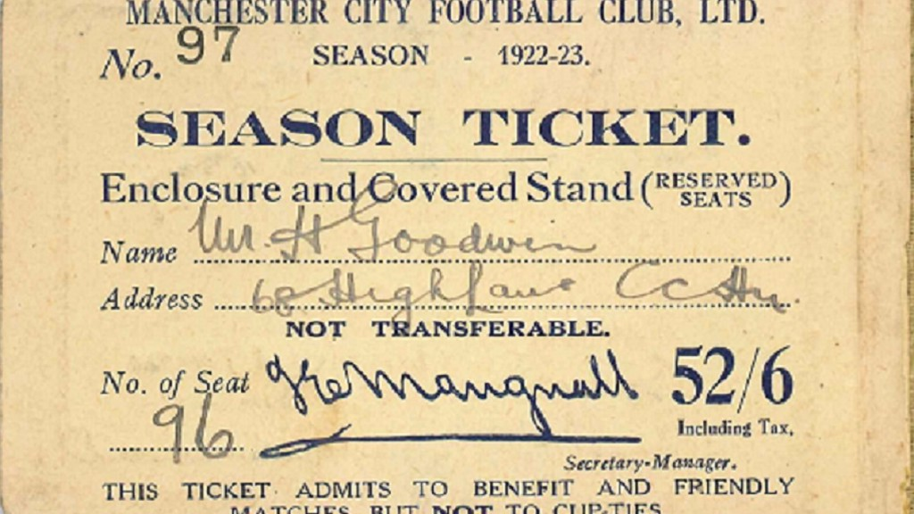 DETAILED: The inside of the 1922/23 season ticket
