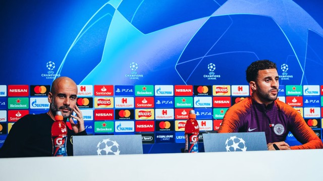 PRESS CONFERENCE: Pep Guardiola and Kyle Walker address the media ahead of the game