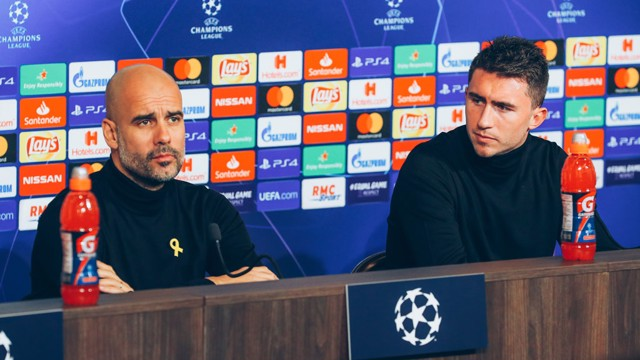 PREVIEW: Pep Guardiola and Aymeric Laporte.
