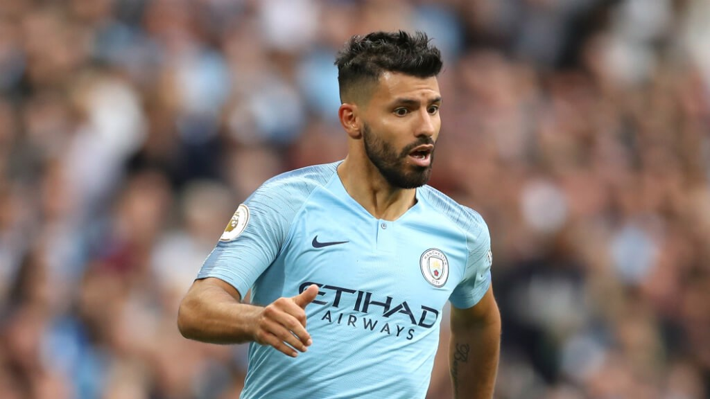 TO BE ASSESSED: Pep Guardiola said his medical team will check on Sergio Aguero after the striker hurt his ankle in the 3-0 Premier League triumph over Fulham...