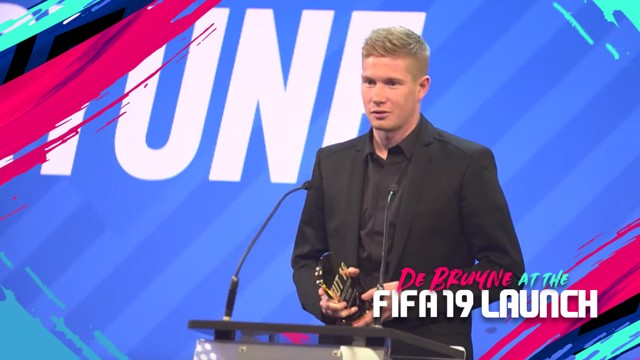 KDB: Our midfielder attends the FIFA 19 launch!