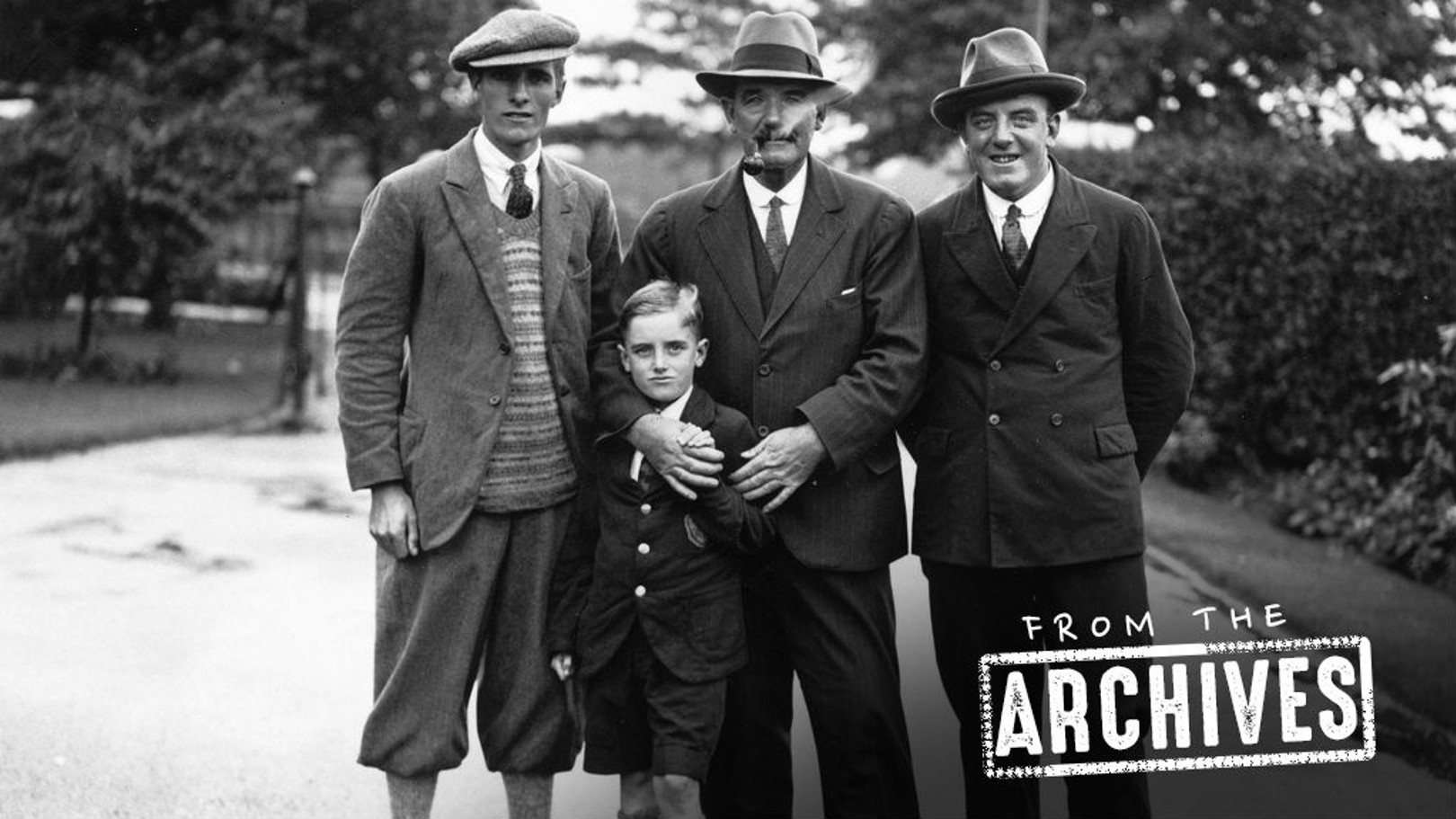 A 16-year-old Alec Herd (far left) with his father, brother and nephew.