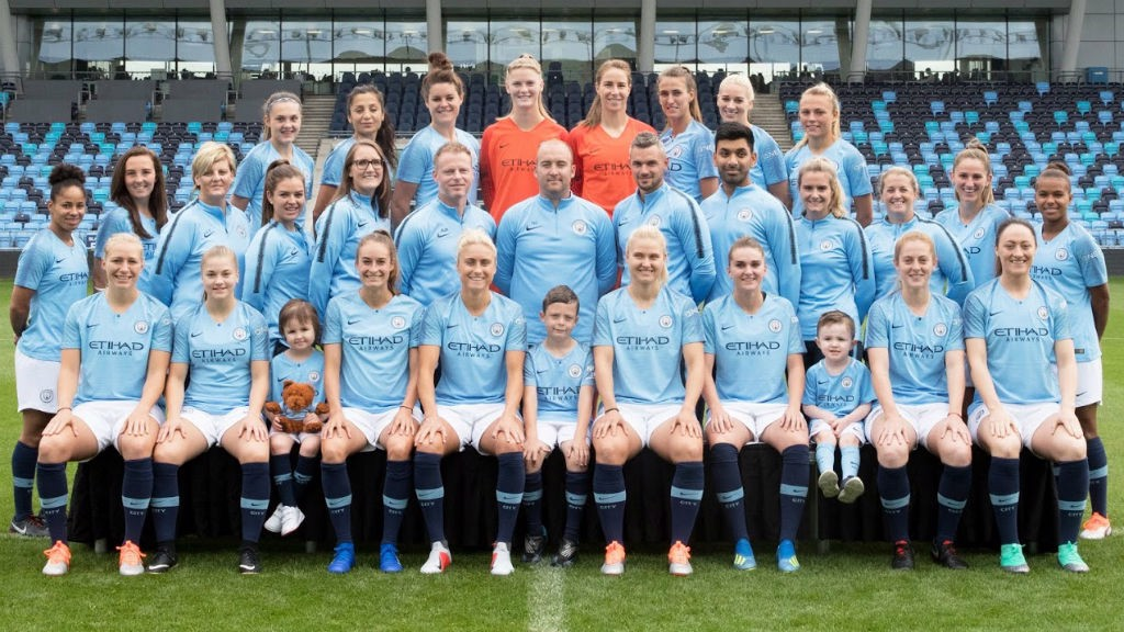 DATE TO REMEMBER: The youngsters also sat in on the Manchester City women's official team picture
