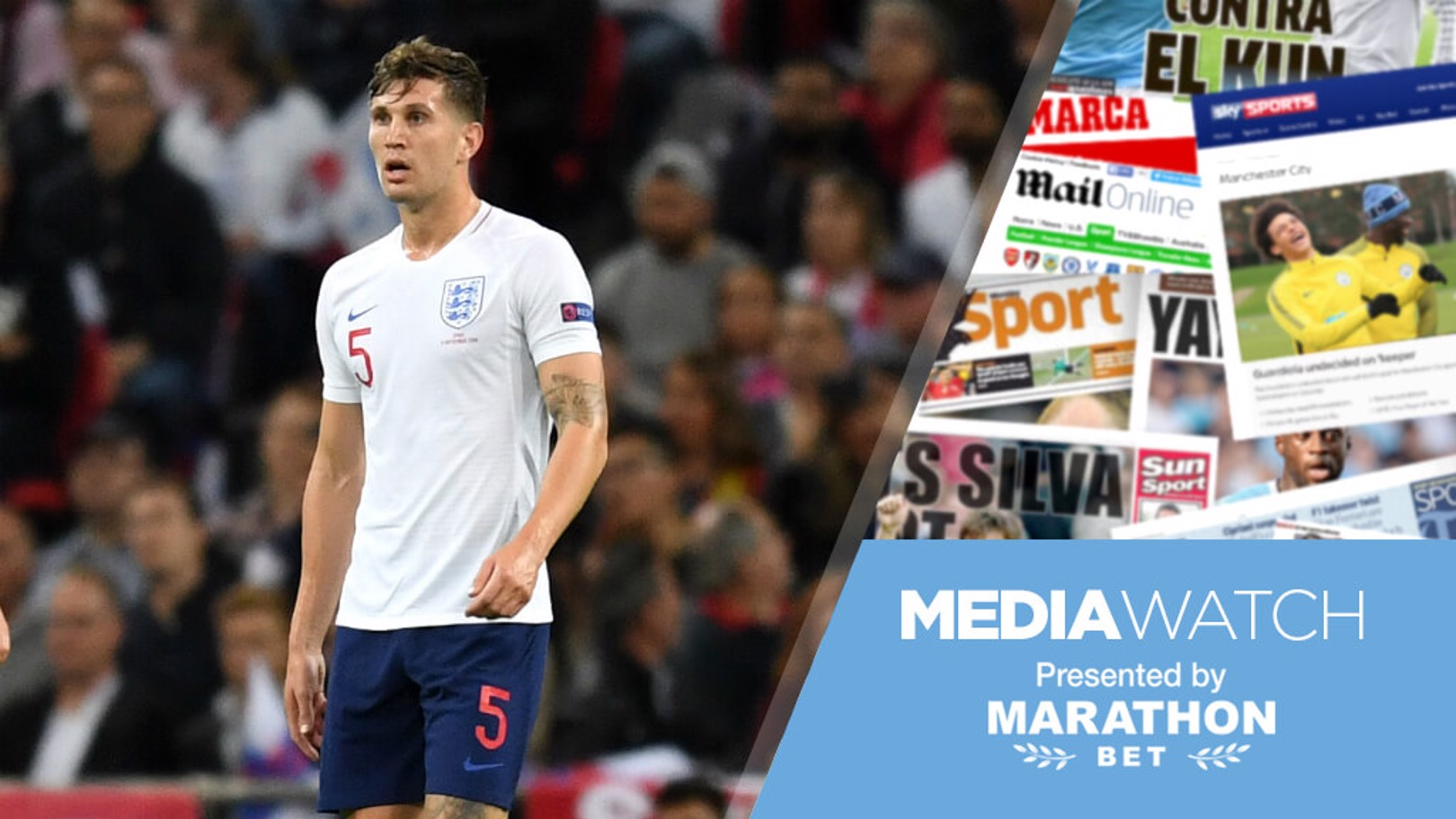 SUPER STONES: John Stones' performance for England caused a stir on social media...