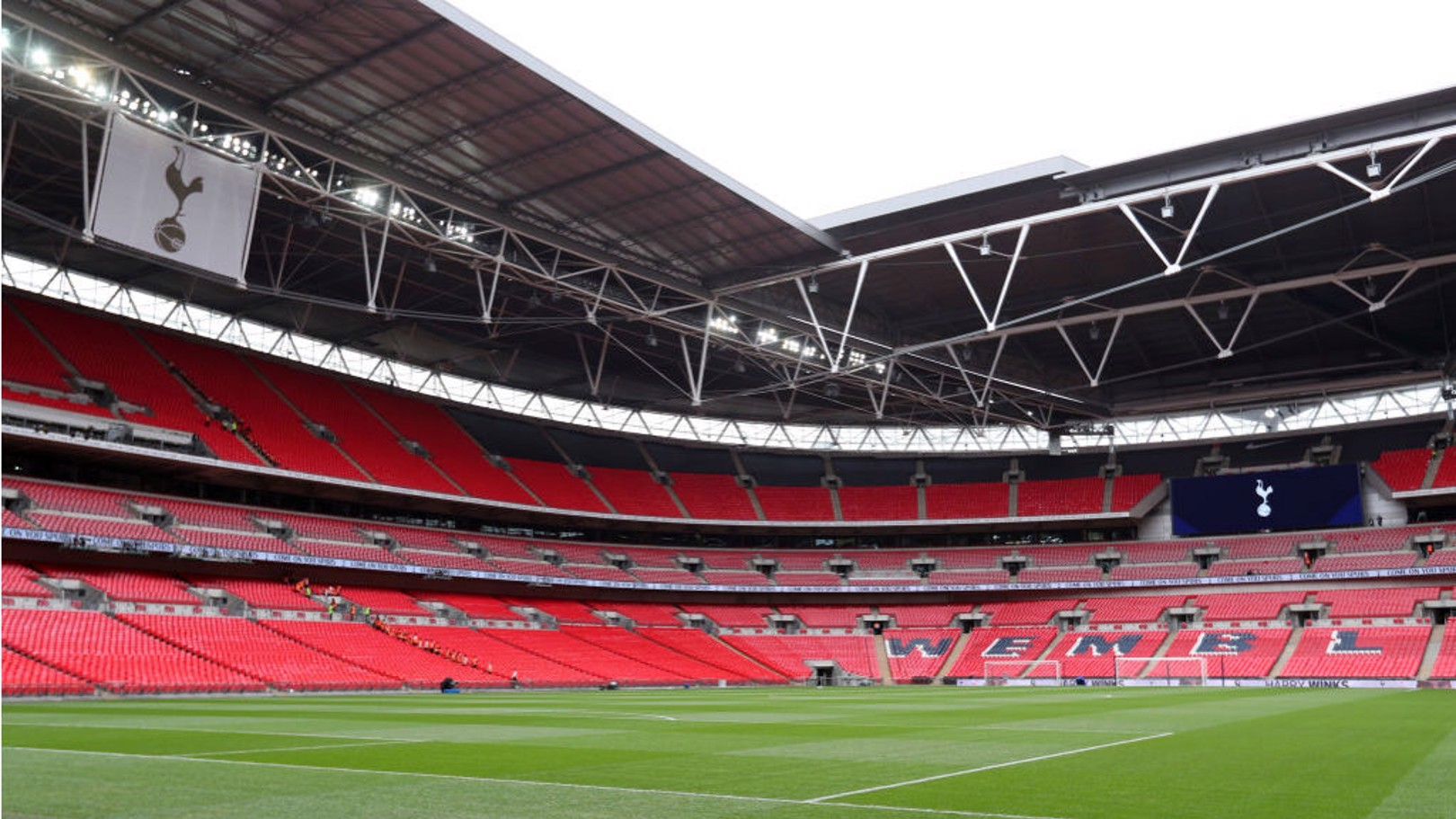 BLUE WEMBLEY: Venue for City v Chelsea in the Carabao Cup final