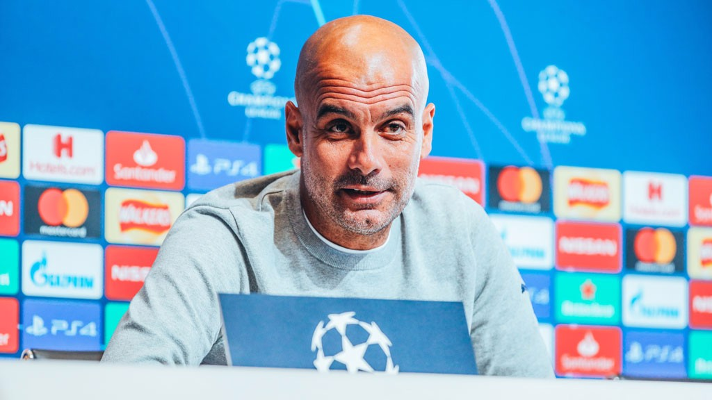 PRESS CONFERENCE: Pep Guardiola addresses the media, ahead of the game