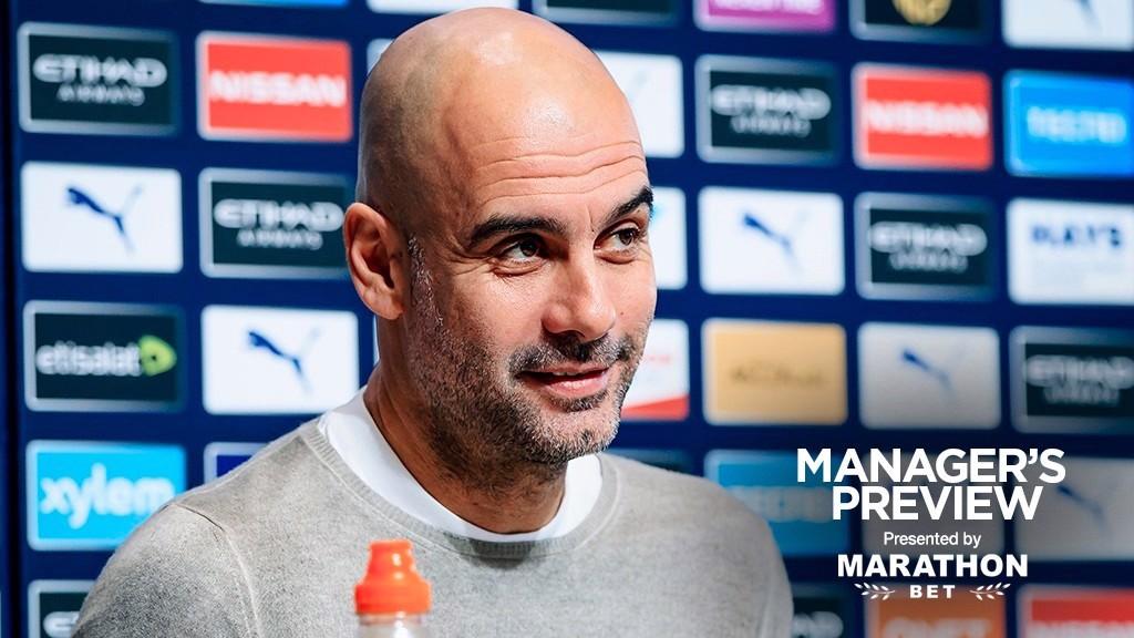 PEP TALK: The boss addresses the media ahead of Crystal Palace