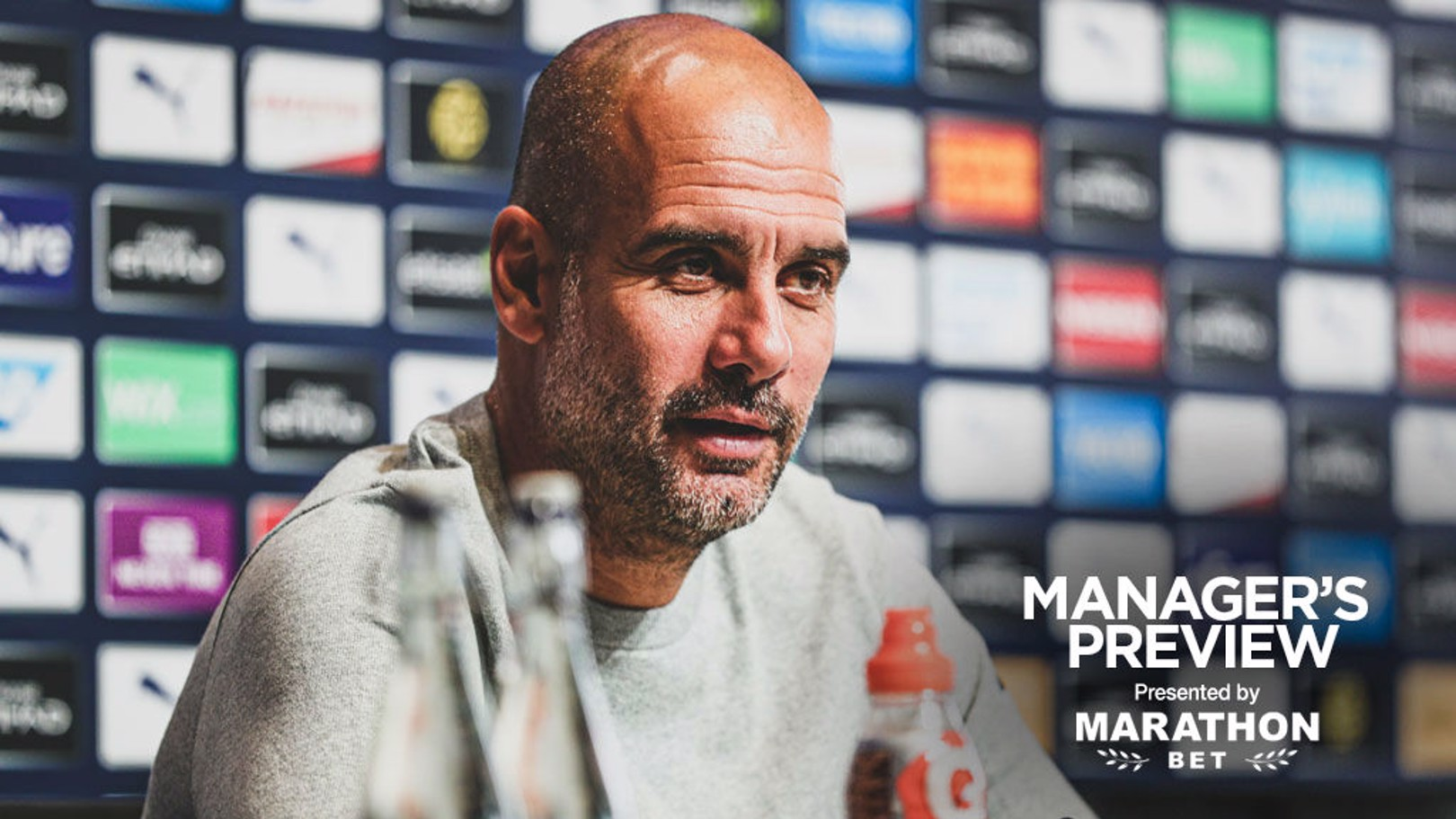 PEP TALK: The boss faced the press ahead of Sunday's game.