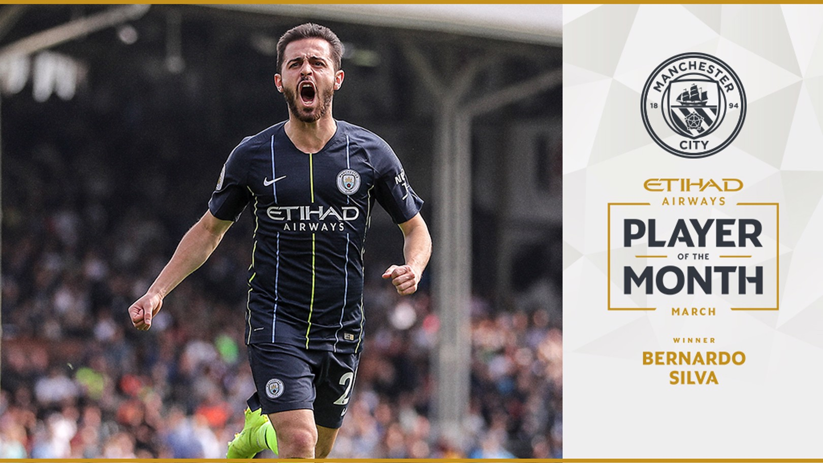 ETIHAD PLAYER OF THE MONTH: Bernardo Silva