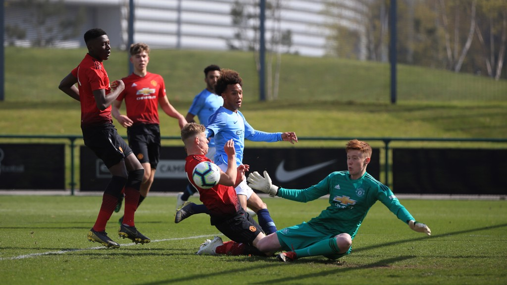 91c1daceab458 DERBY DAY  City faced their local rivals in the U18 Premier League