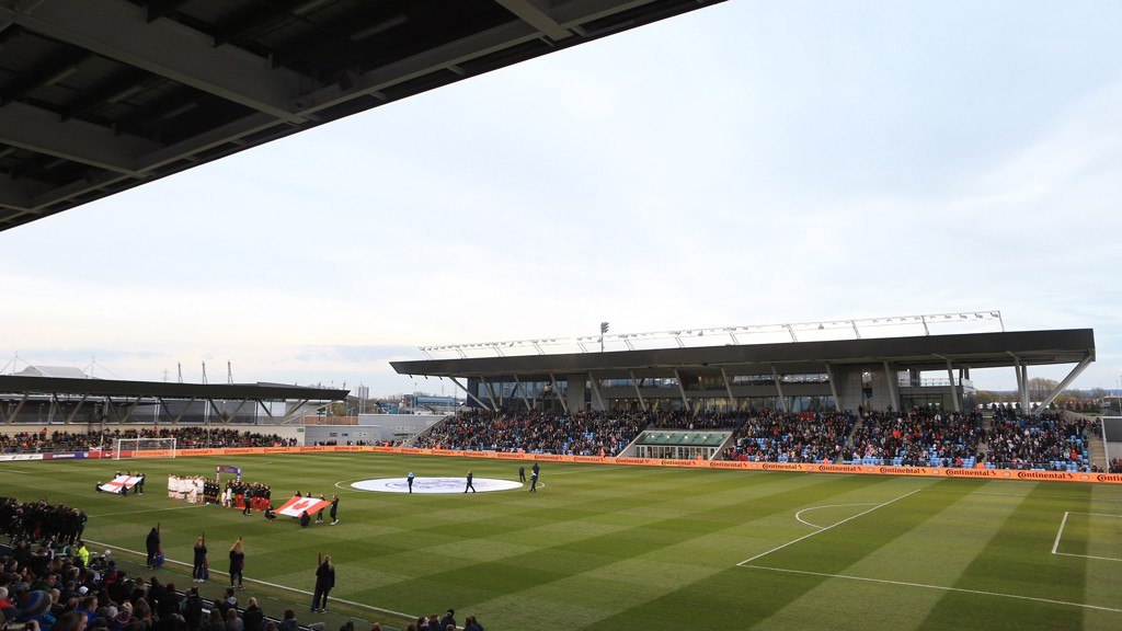 ACADEMY STADIUM: A bumper crowd were in attendance to watch the Lionesses' warm up game.