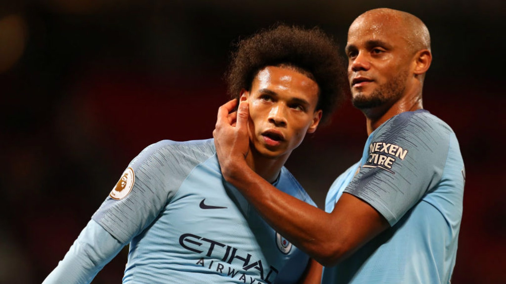 IN SANE: Leroy is back in the starting XI - but Fernandinho and Kevin De Bruyne are out