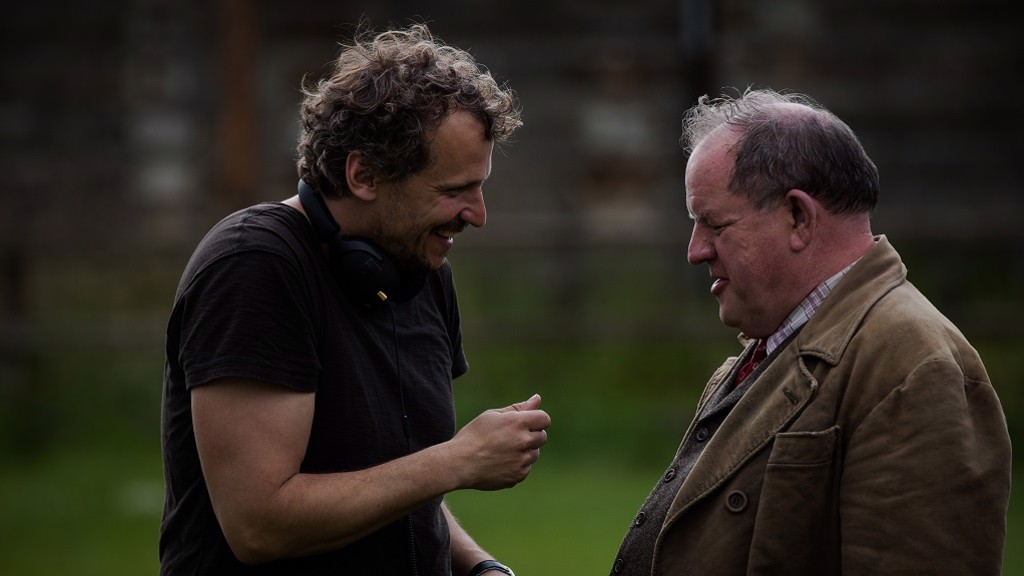 DIRECTION: 'The Keeper' director Marcus H. Rosenmüller and John Henshaw on location