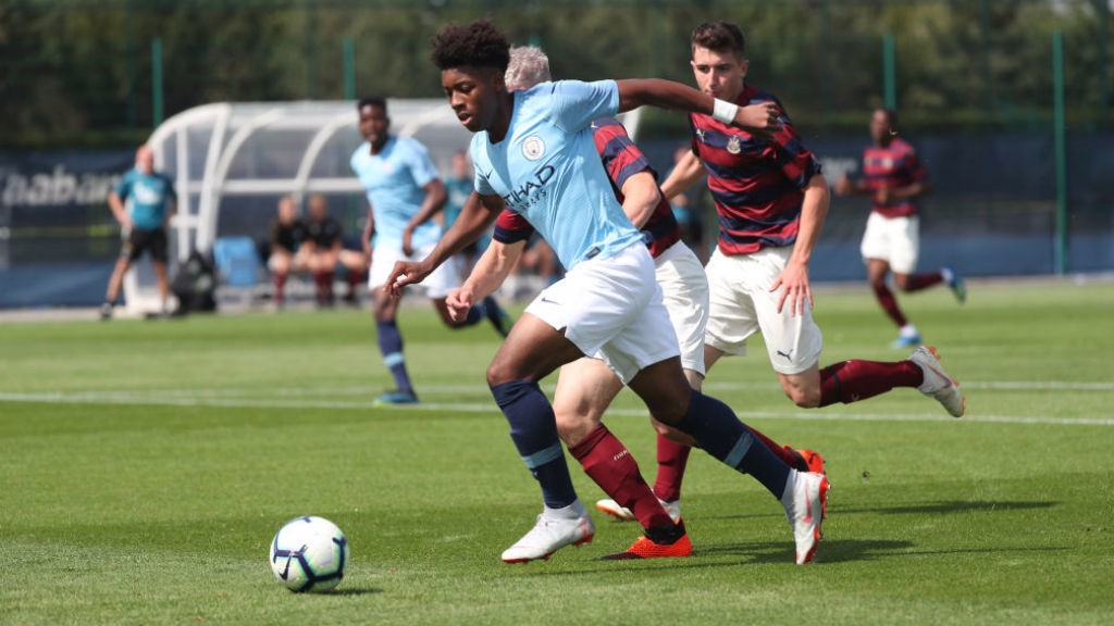 ON THE MARK: Keke Simmonds opened the scoring for City's Under-18s away at West Brom