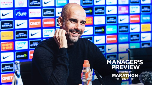 REASON TO SMILE: Pep Guardiola expressed his pride at breaking another goal scoring record.