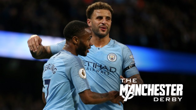 DERBY DAY: Kyle Walker and Raheem Sterling preview the Manchester Derby