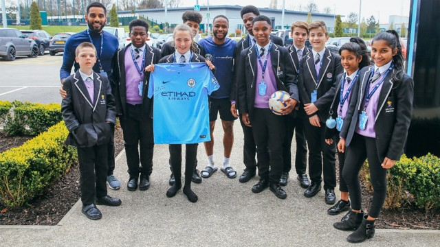 STERLING GESTURE: Raheem Sterling invited students from his old school to Wembley for the FA Cup semi-final