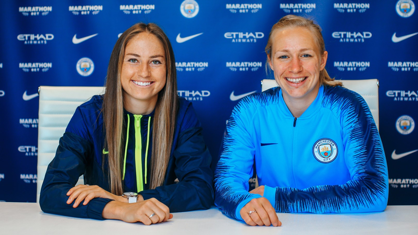 DOUBLE DELIGHT: Janine Beckie and Pauline Bremer have both penned new deals