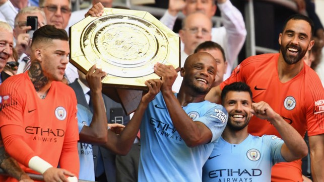 FORCE SHIELD: Vinny and City celebrate 2018 Community Shield success after our 2-0 success over Chelsea