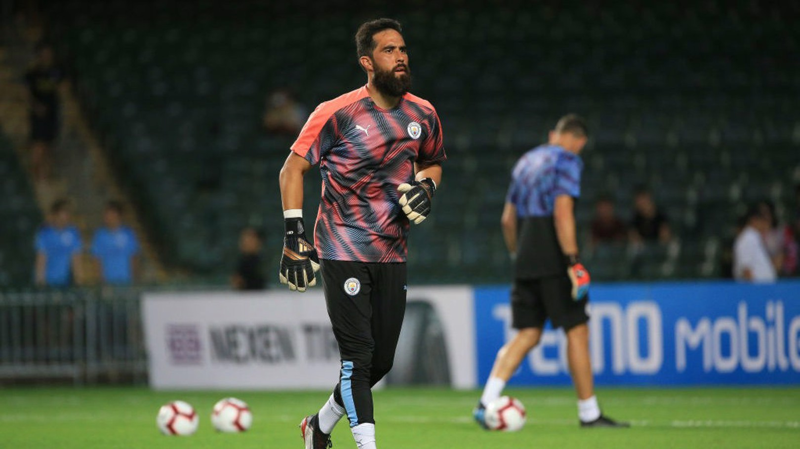 BACK ON TRACK: Claudio Bravo is set to feature in the Community Shield on Sunday