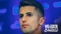 INTRODUCED: Joao Cancelo speaks to the media for the first time.