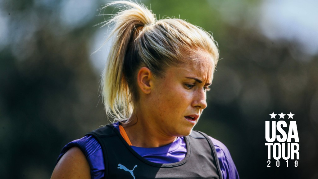 CAPTAIN'S CALL: Steph Houghton believes City's defeat to the North Carolina Courage will prove a useful experience