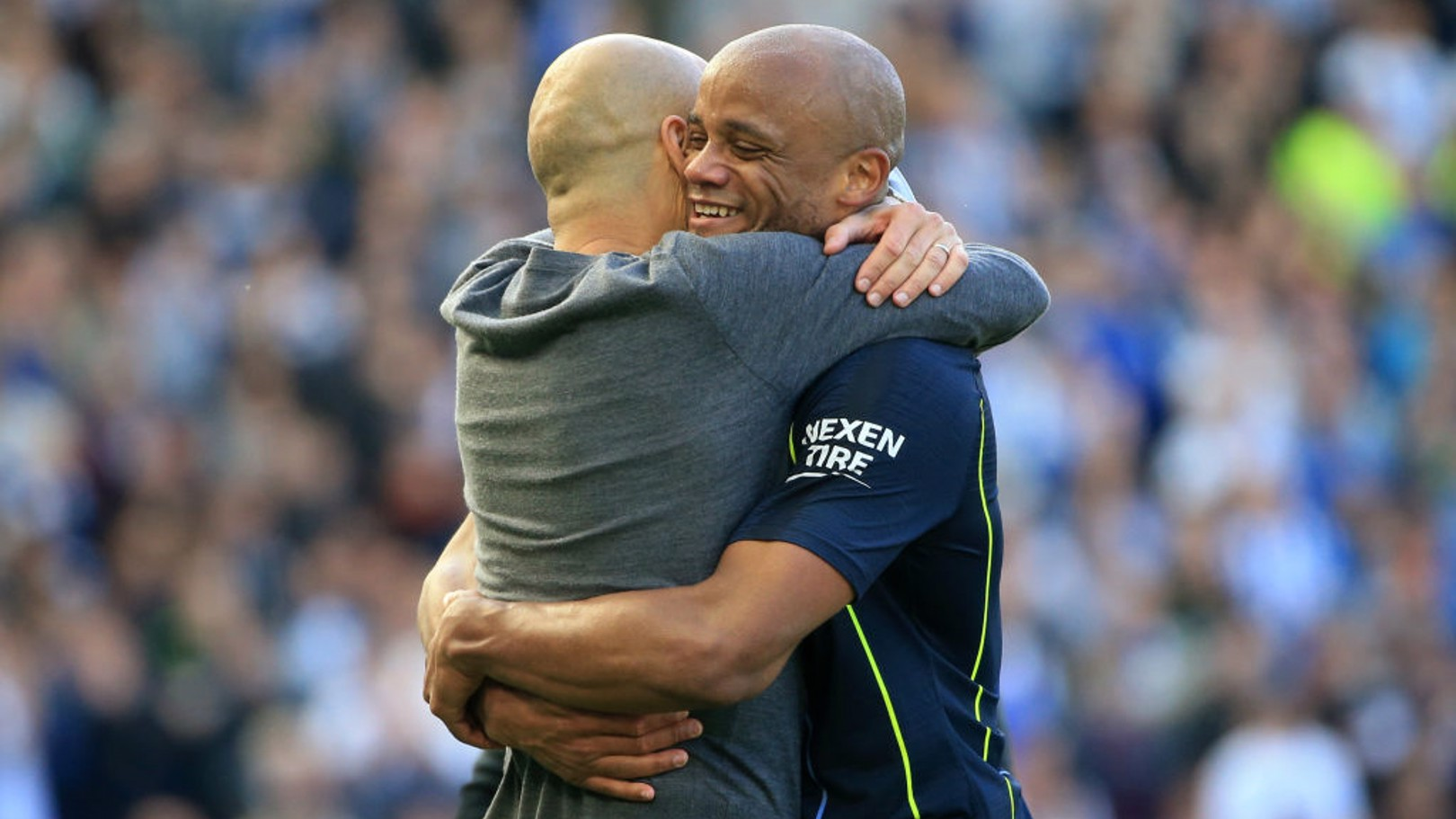BACK TOGETHER: Pep Guardiola will manage one of the teams in Vincent Kompany's testimonial.