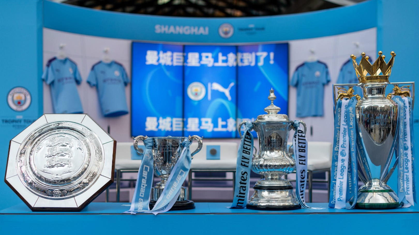 TROPHY TOUR: To celebrate Manchester City's record-breaking 2018/19 season, we are taking the men's and women's trophies on a global Trophy Tour, presented by Etihad Airways.