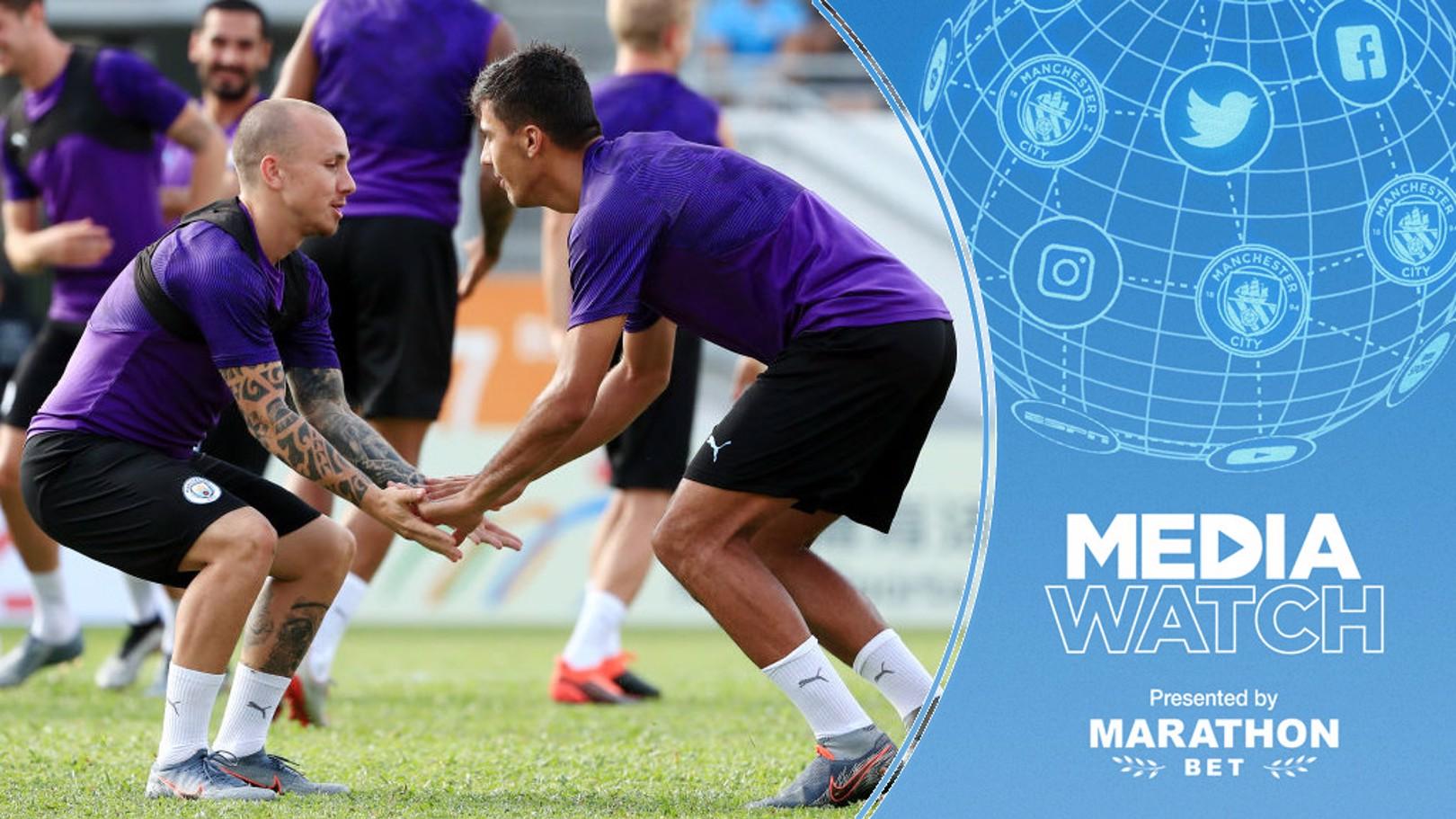 SUMMER SIGNINGS: Angelino and Rodrigo in training.