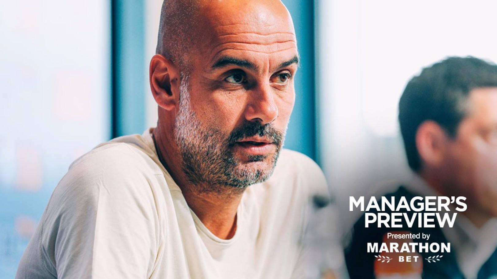 PRE-MATCH: Pep Guardiola addresses the media ahead of the community shield.