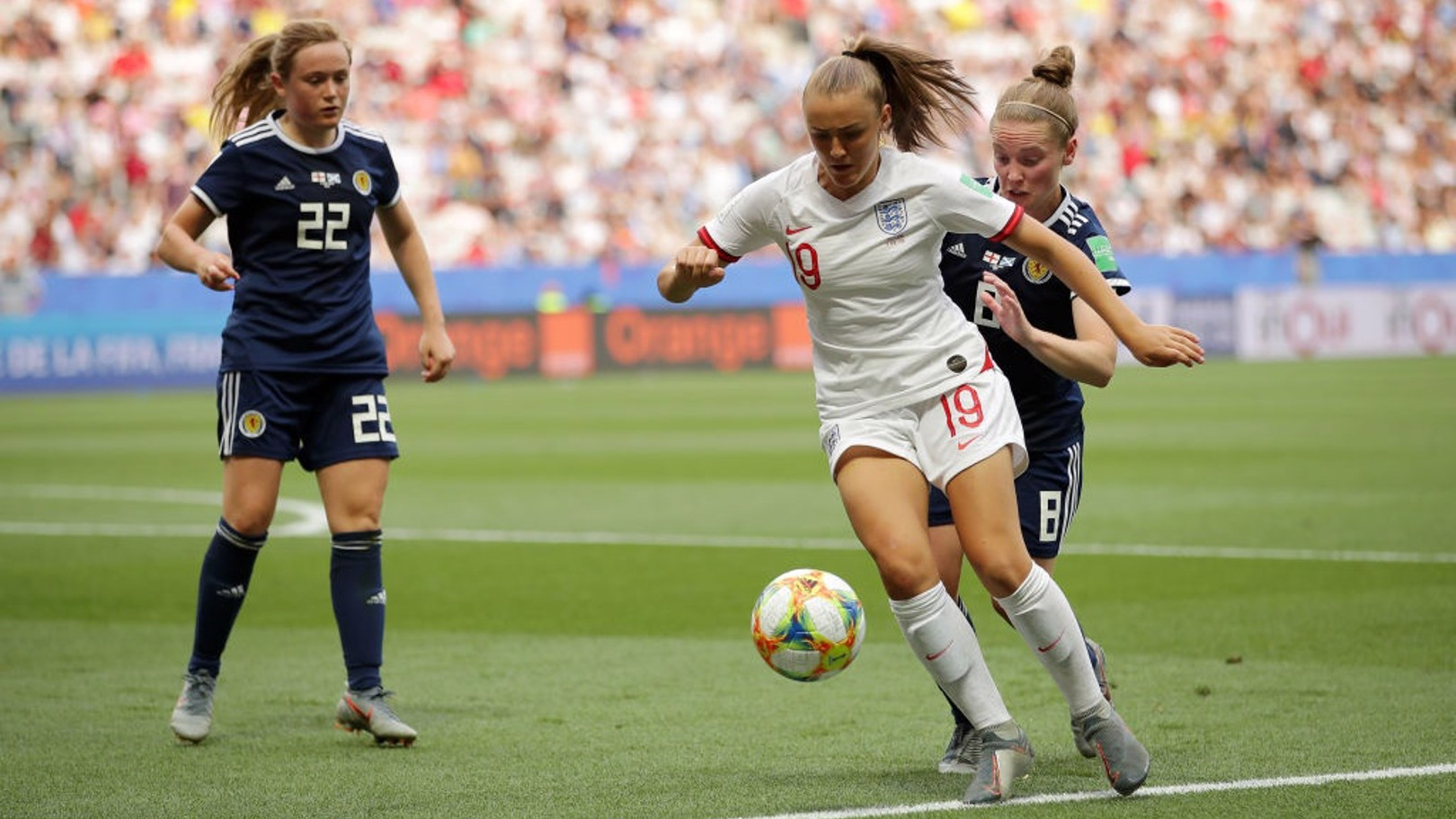 ON FORM: Georgia Stanway provided an assist for England against Belgium.
