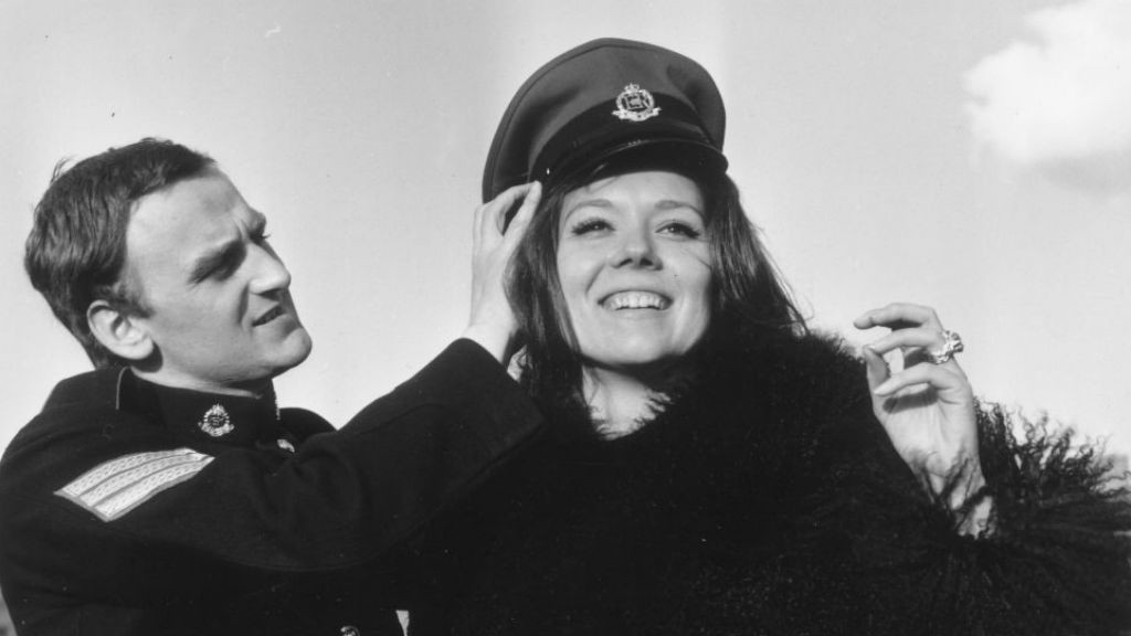 CLASS ACT: John pictured with Diana Rigg in an early TV screen role