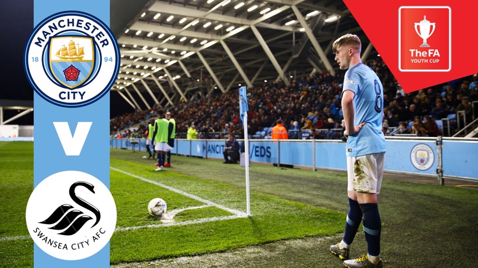 WATCH LIVE: City v Swansea in the FA Youth Cup is live on the Man City for TV app