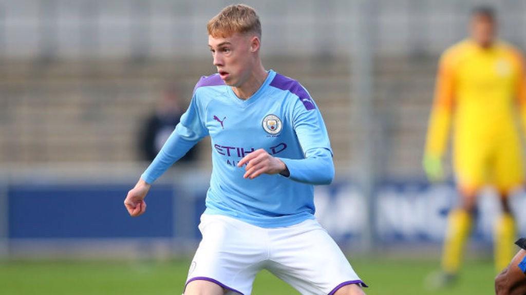 TREBLE HIT: Skipper Cole Palmer claimed a superb hat-trick for City's Under-18s