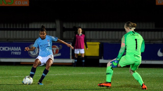 FINALISTS: Parris' double saw City move through to the Continental Cup final for the fourth time