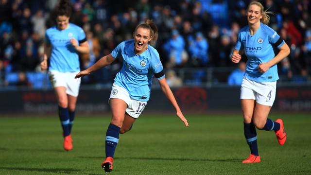 SUPER STANNERS: Georgia Stanway struck again, against Chelsea...