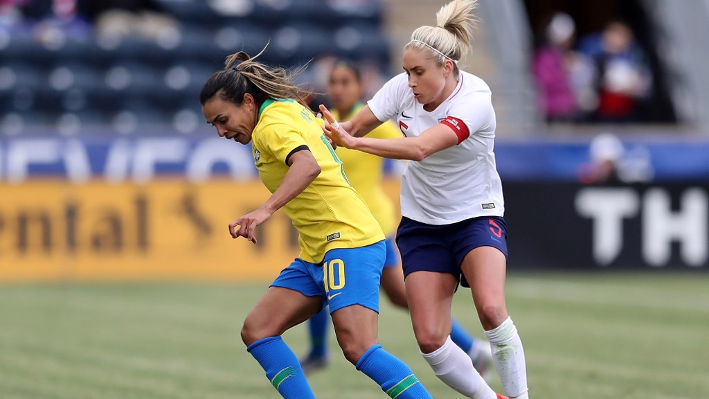 STEPH HOUGHTON: Leading England to victory over Brazil