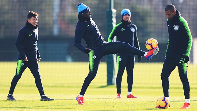 TRAINING: City gear up ahead of Sunday's game against Arsenal