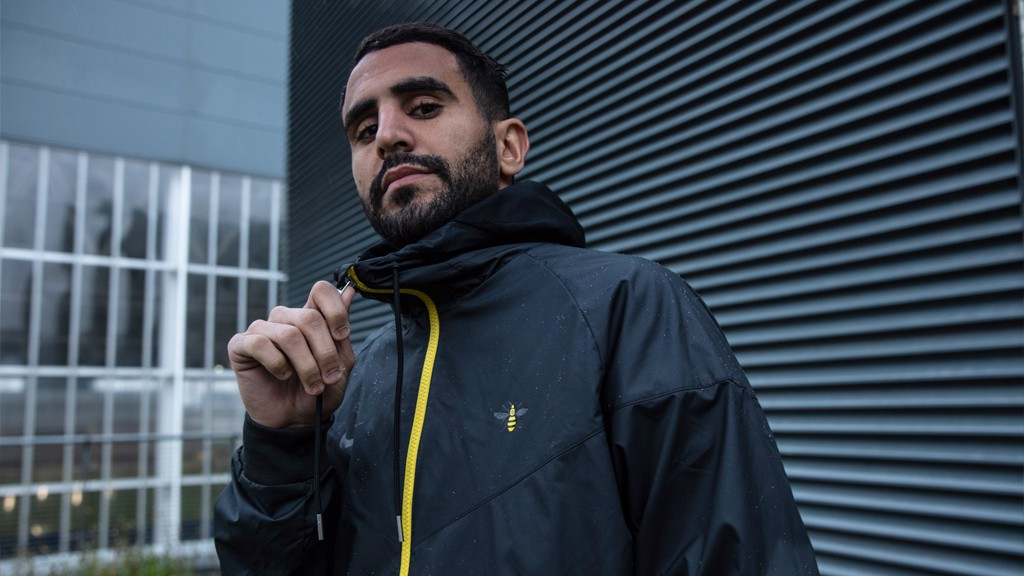 WORKER BEE: Riyad Mahrez looks suave in the Men's Windrunner