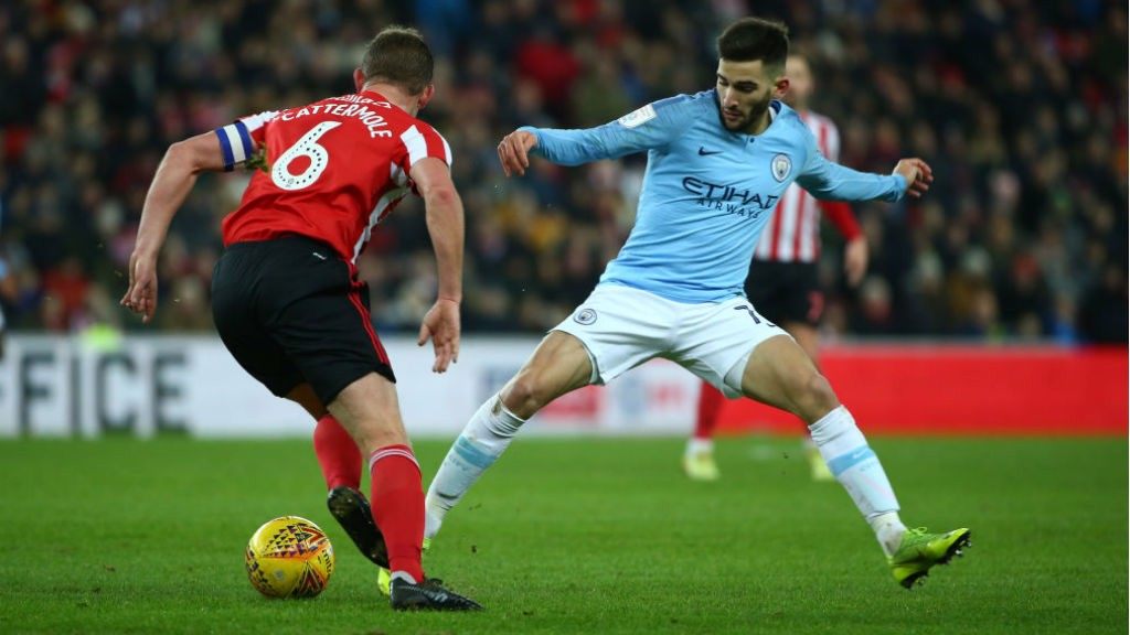 DUEL: Benjamin Garre vies for possession with Sunderland skipper Lee Cattermole