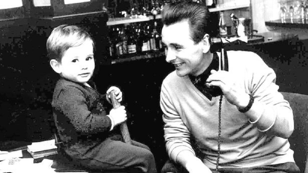 FATHER AND SON: Nigel with dad Brian